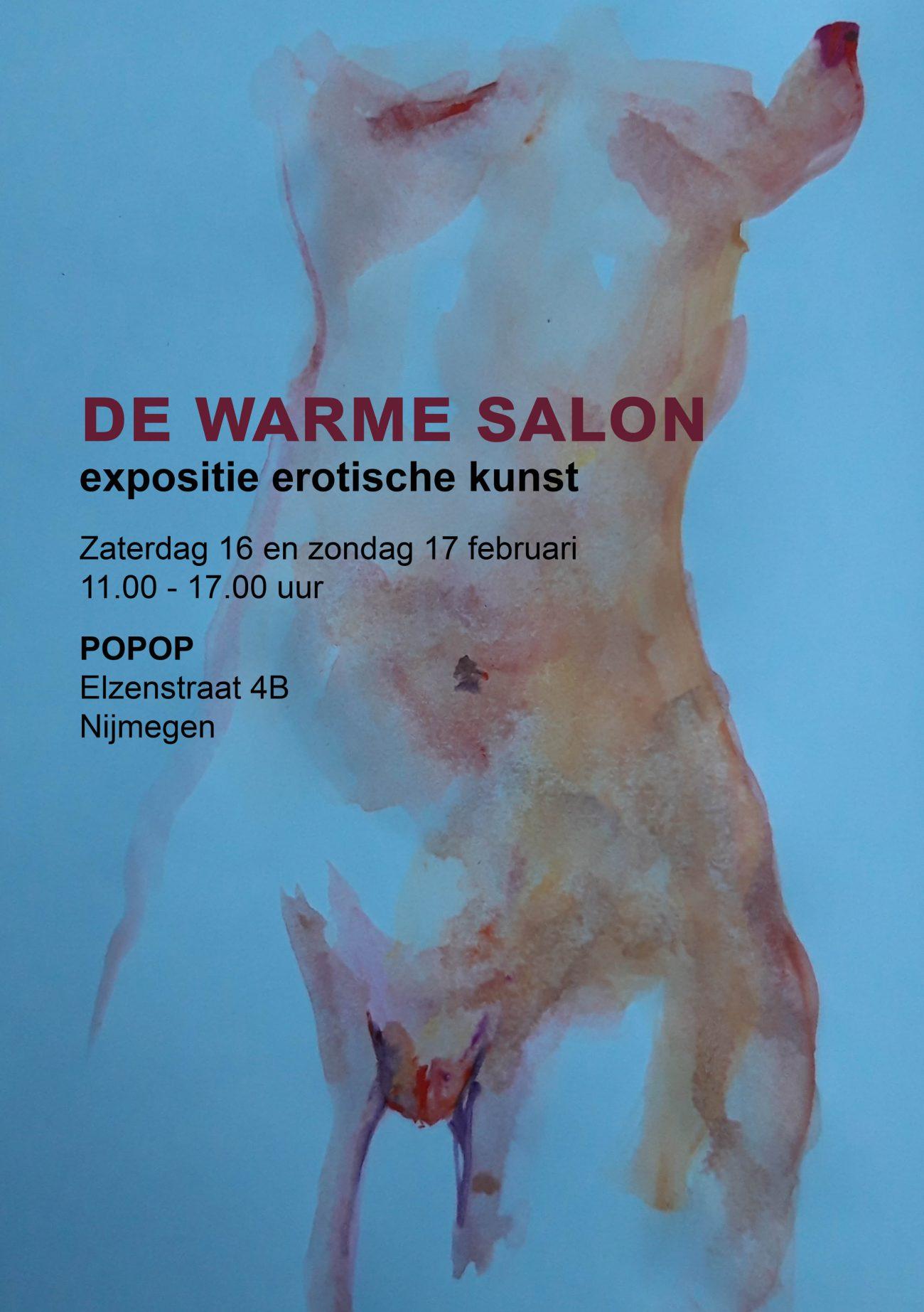 De warme salon Nijmegen toont erotische kunst